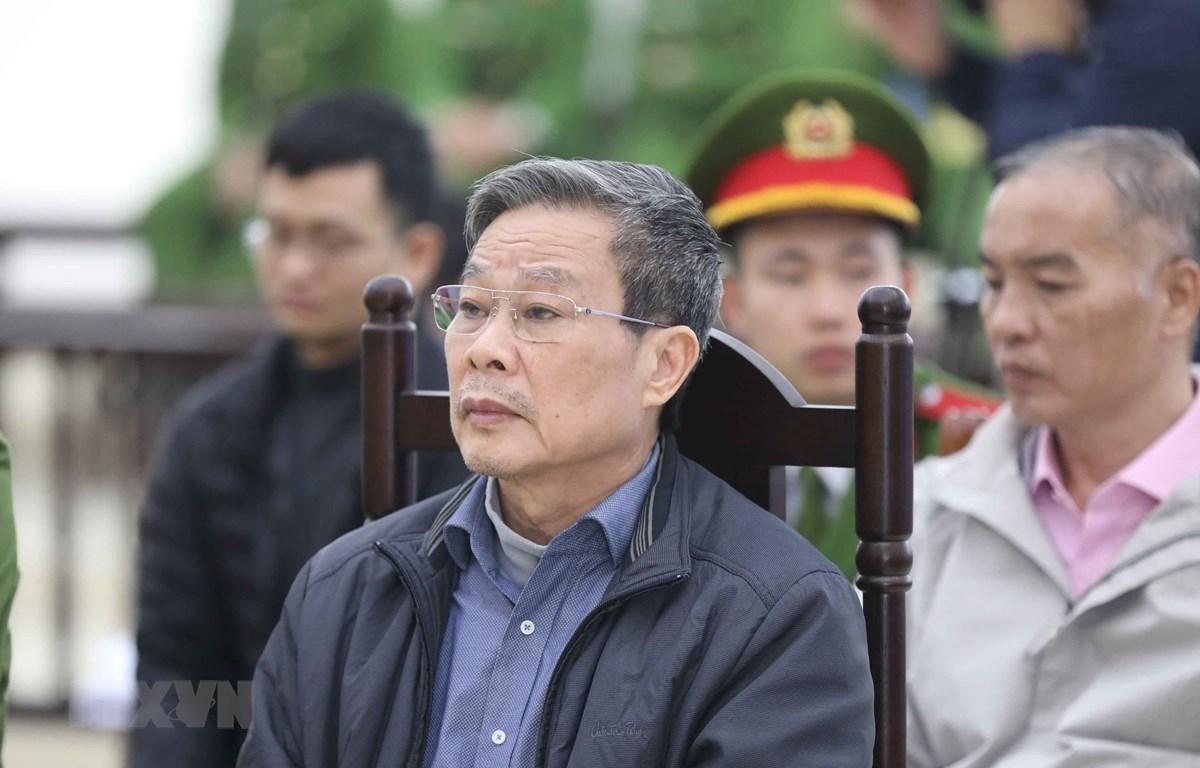Bị cáo Nguyễn Bắc Son (sinh năm 1953, cựu Bộ trưởng Bộ Thông tin và Truyền thông) tại phiên tòa. (Ảnh: Doãn Tấn/TTXVN)