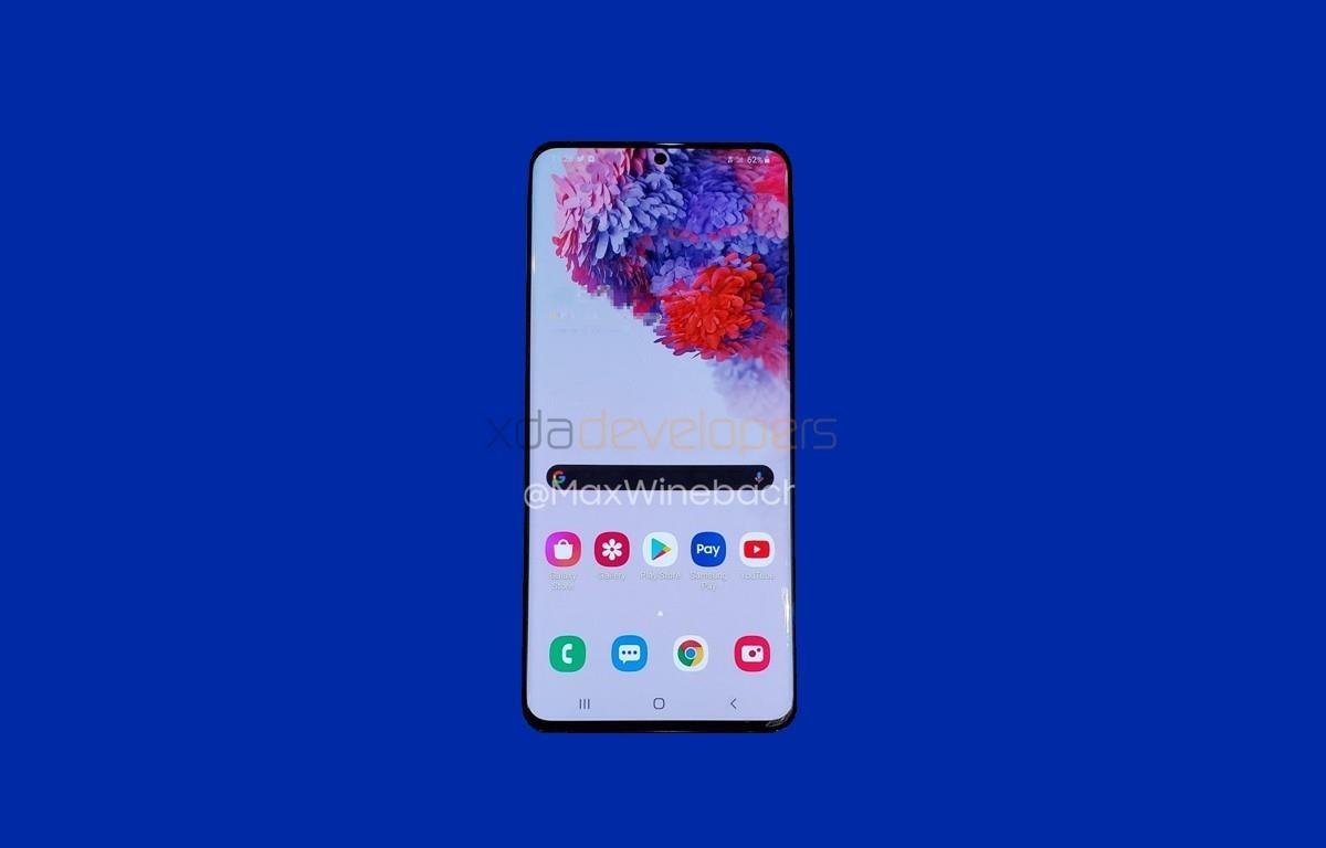 Hình ảnh được cho là mẫu điện thoại Samsung Galaxy S20 sắp ra mắt.