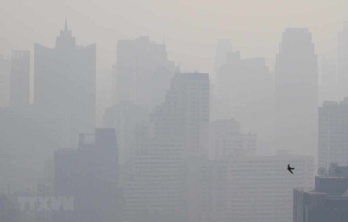 Bụi mịn bao phủ thủ đô Bangkok, Thái Lan ngày 8/1/2020. (Nguồn: AFP/TTXVN)