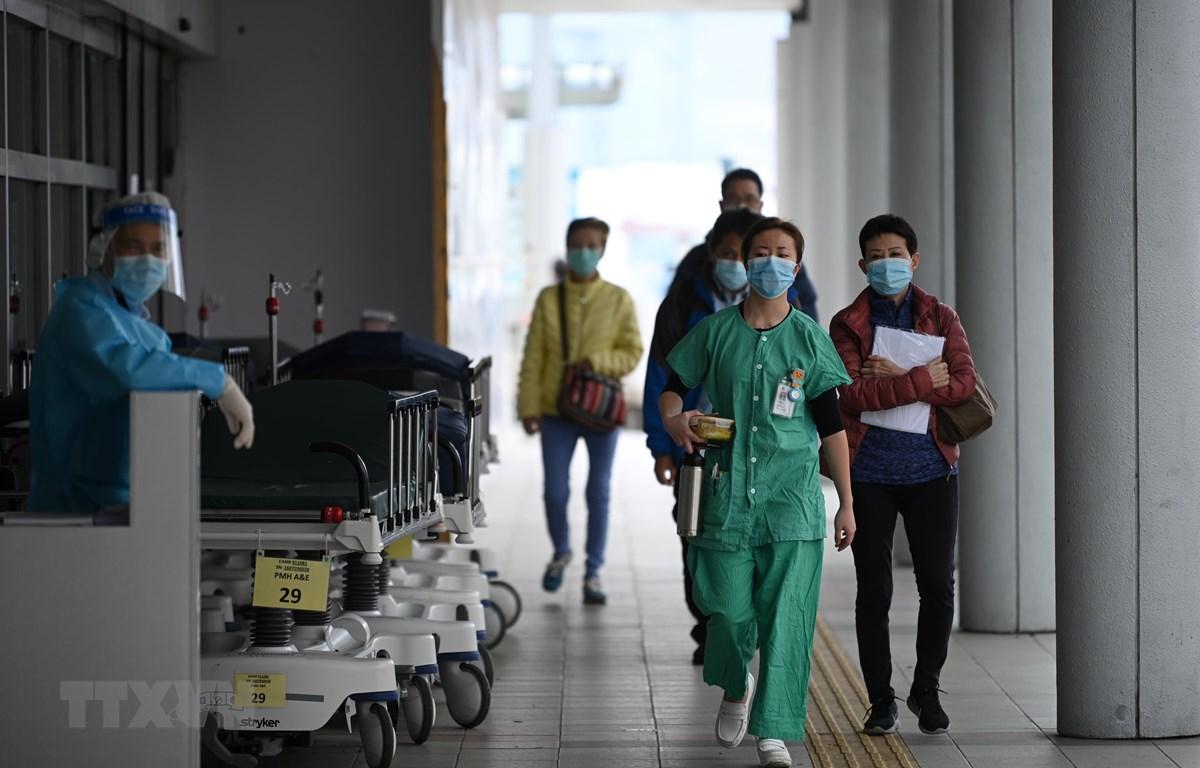 Nhân viên y tế làm việc tại bệnh viện Princess Margaret ở Hong Kong, Trung Quốc ngày 4/2/2020. (Nguồn: AFP/TTXVN)