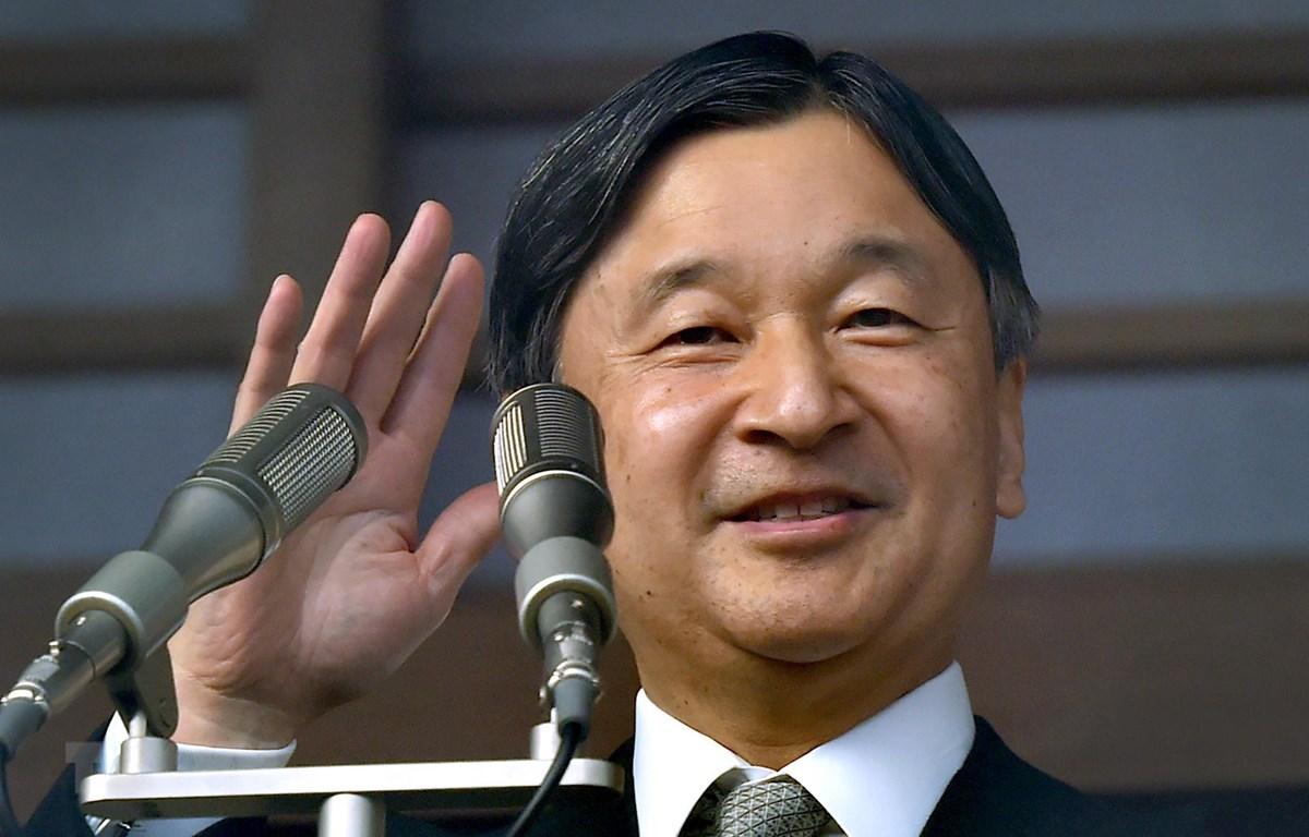 Nhật Hoàng Naruhito phát biểu trước đám đông người dân trong thông điệp mừng Năm Mới 2020 tại Hoàng Cung ở Tokyo ngày 2/1/2020. (Nguồn: AFP/TTXVN)
