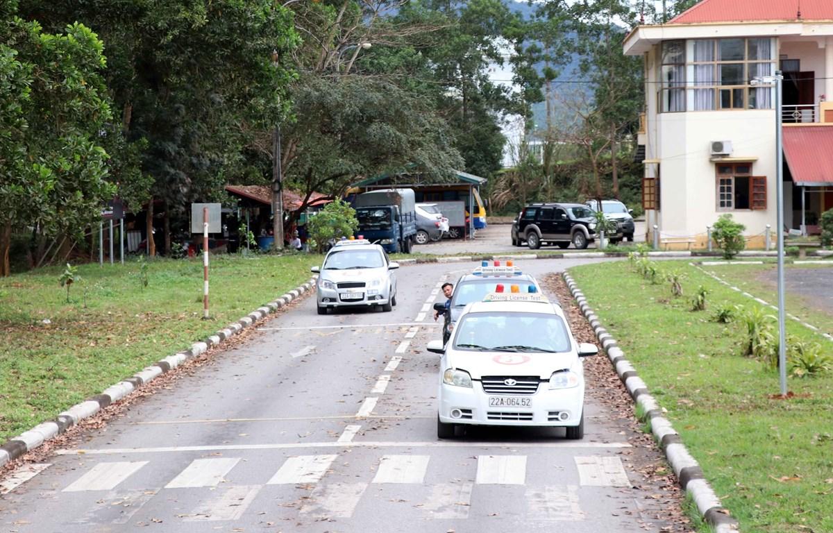 Trung tâm dạy nghề sát hạch lái xe Tuyên Quang. (Ảnh Quang Đán/TTXVN)