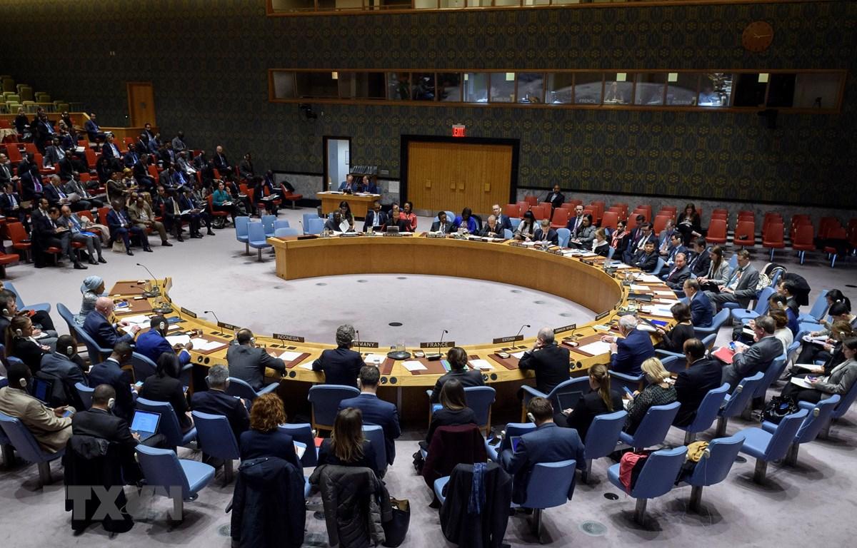 Toàn thể phiên họp của Hội đồng Bảo an ngày 11/3. (Ảnh: Khắc Hiếu/TTXVN)