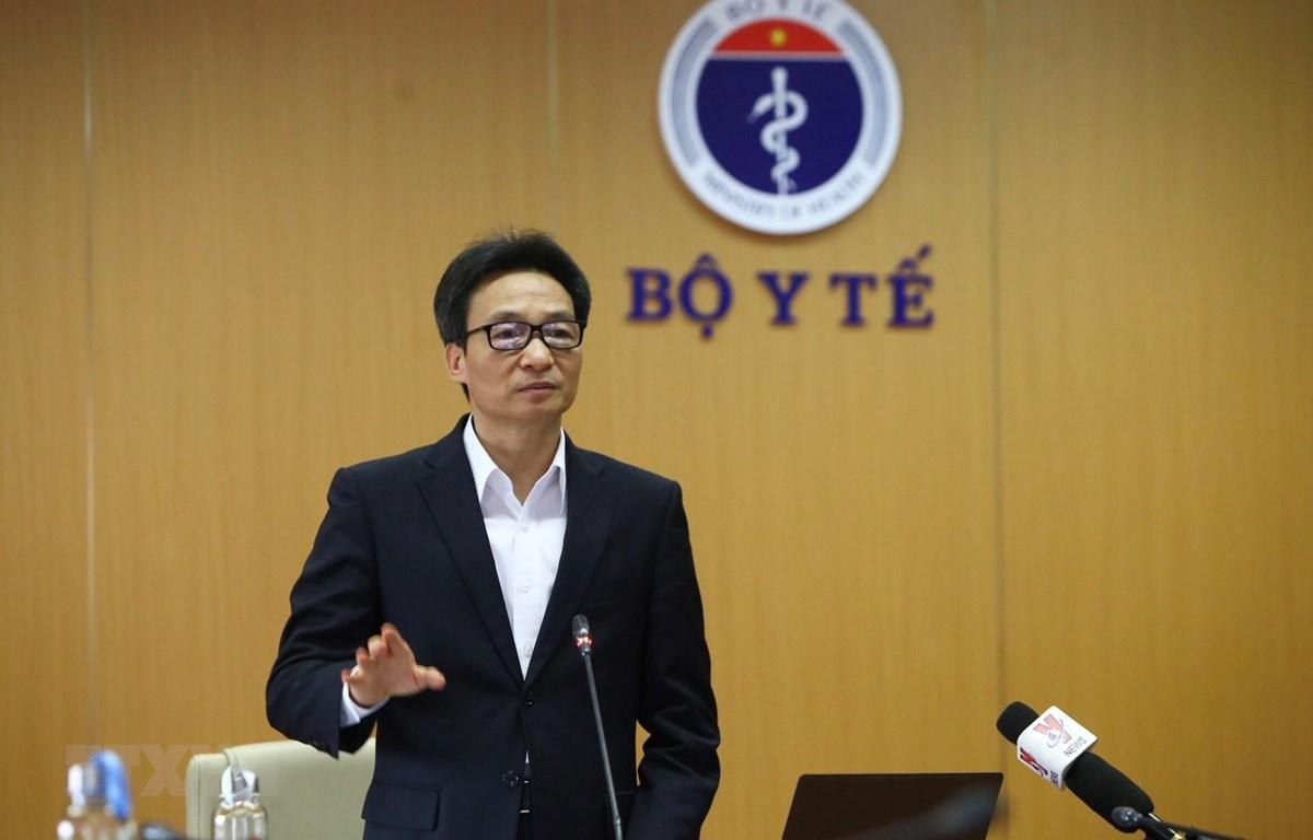 Phó Thủ tướng Vũ Đức Đam, Trưởng Ban Chỉ đạo phát biểu. (Ảnh: Minh Quyết/TTXVN)