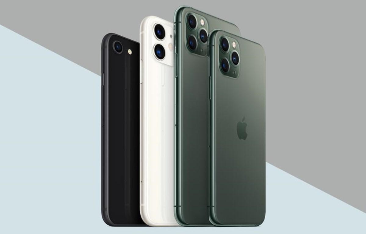 Bộ sản phẩm iPhone đương nghiệm của Apple. (Nguồn: CNN)