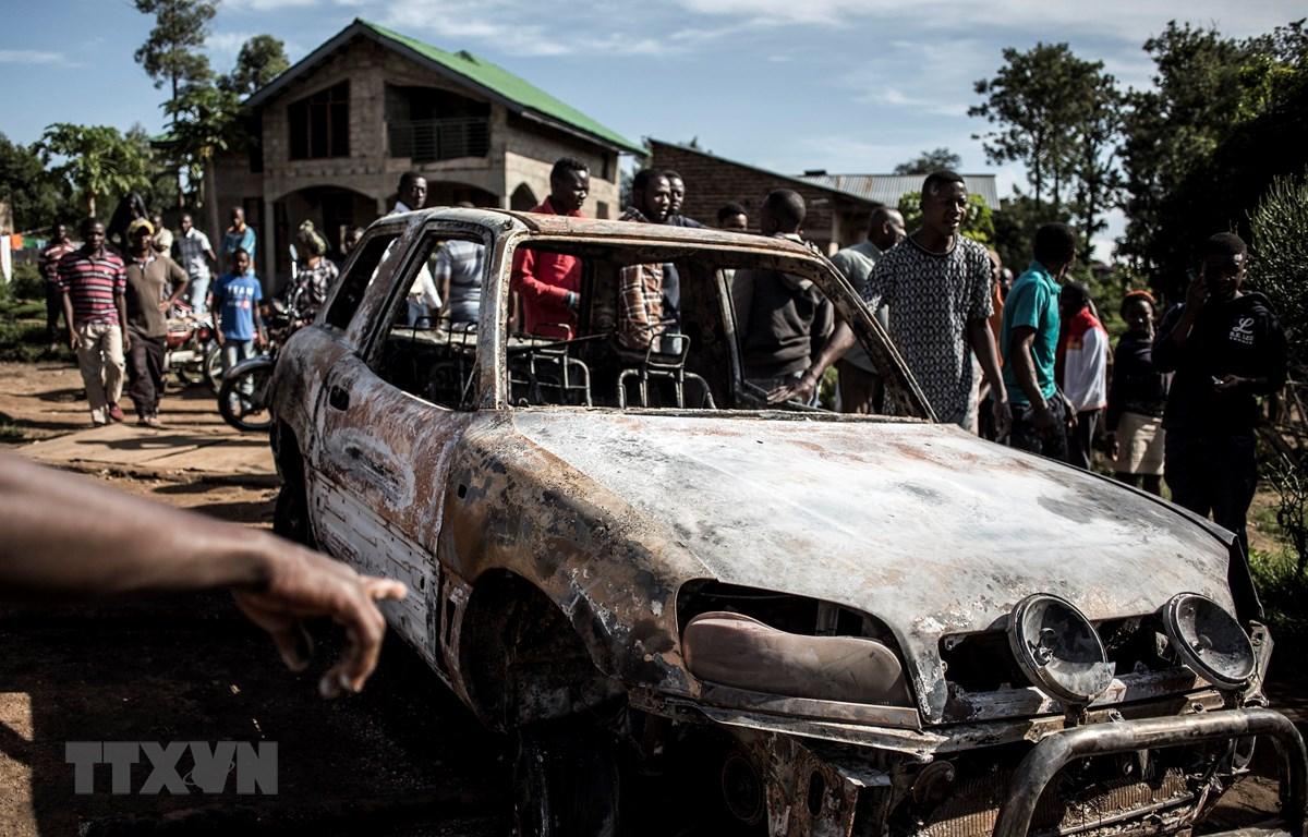 Ảnh tư liệu: Hiện trường một vụ tấn công tại Beni, Cộng hòa Dân chủ Congo. (Nguồn: AFP/ TTXVN)