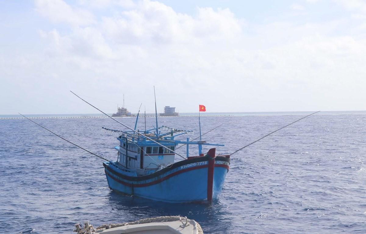 Tàu cá ngư dân tại quần đảo Trường Sa, tỉnh Khánh Hòa. (Ảnh: Nguyễn Văn Nhật/TTXVN)