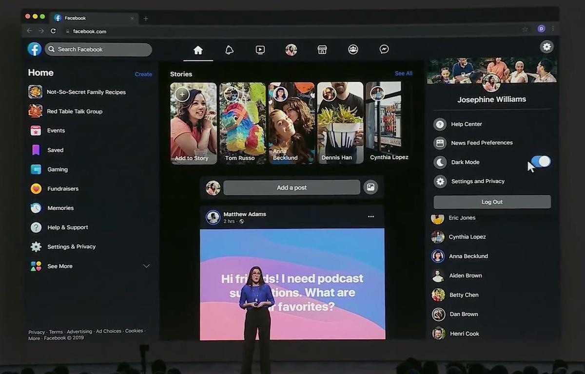 Thiết kế mới trang web máy tính của Facebook, được công bố vào năm ngoái trong hội nghị F8 hàng năm. (Nguồn: androidpolice.com)