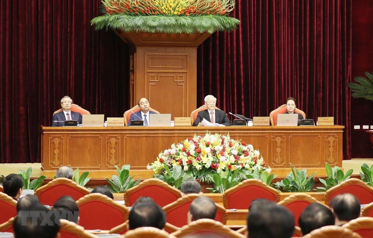 Tổng Bí thư, Chủ tịch nước Nguyễn Phú Trọng phát biểu khai mạc hội nghị. (Ảnh: Trí Dũng/TTXVN)