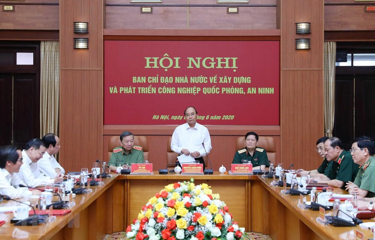 Thủ tướng Nguyễn Xuân Phúc, Trưởng Ban Chỉ đạo phát biểu. (Ảnh: Thống Nhất/TTXVN)