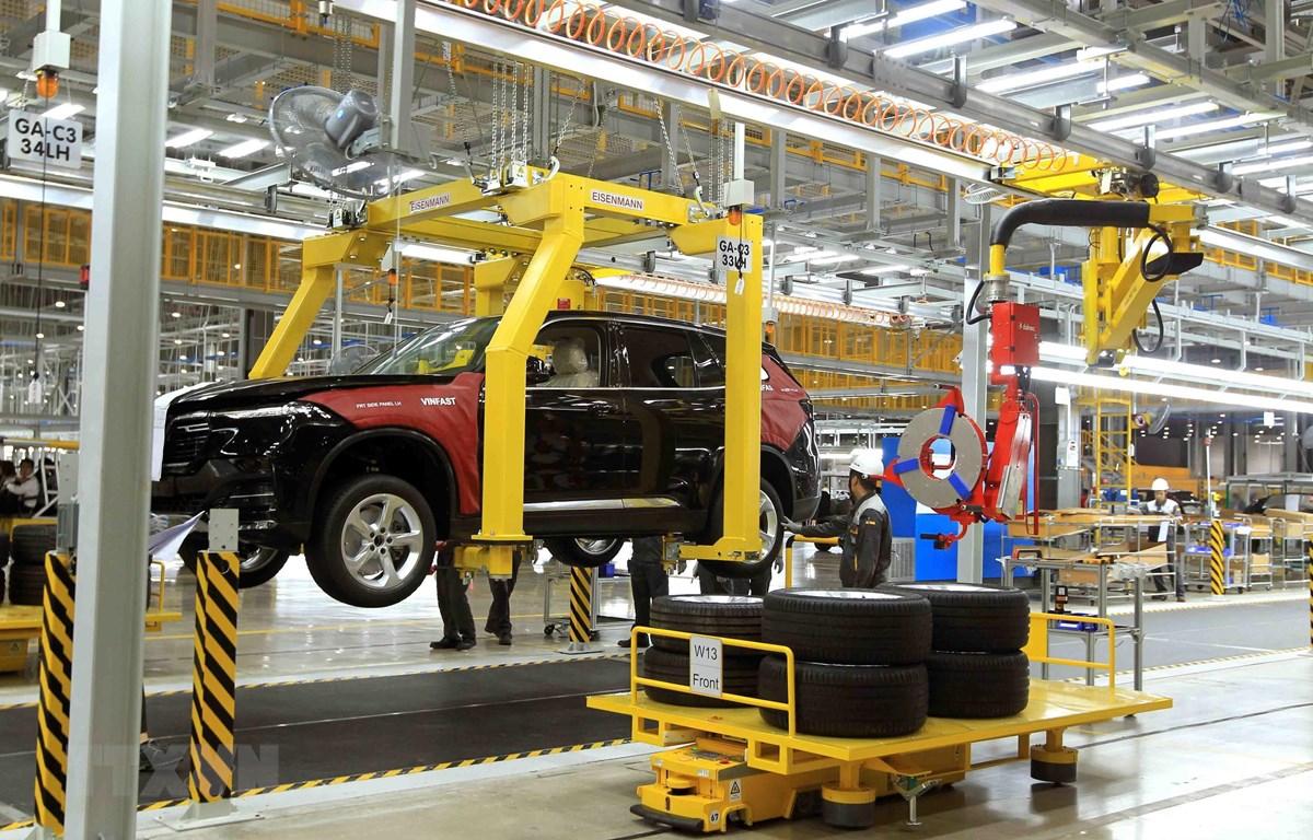 Nhà máy sản xuất ôtô VinFast tại Khu công nghiệp Đình Vũ, huyện Cát Hải, Hải Phòng. (Ảnh: An Đăng/TTXVN)
