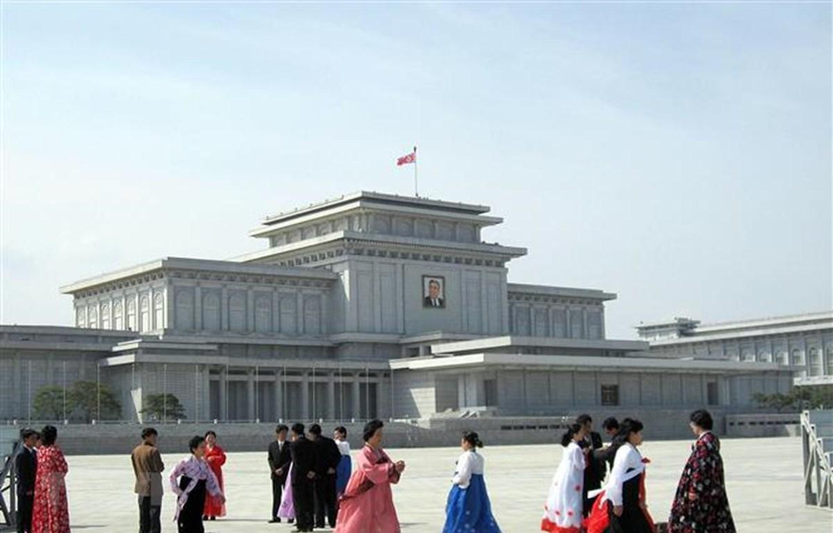 Quảng trường Kim Nhật Thành tại thủ đô Bình Nhưỡng, Triều Tiên. (Nguồn: AFP/TTXVN)