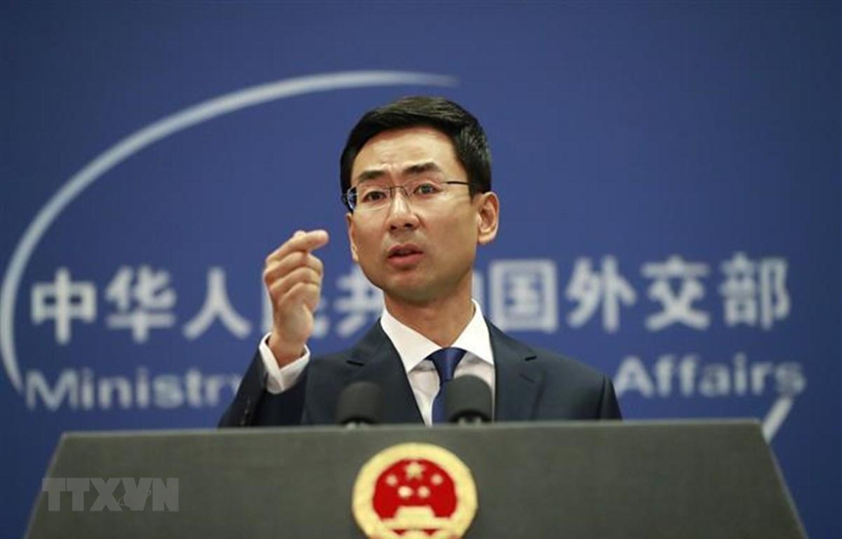 Người phát ngôn Bộ Ngoại giao Trung Quốc Cảnh Sảng. Ảnh:EPA/TTXVN