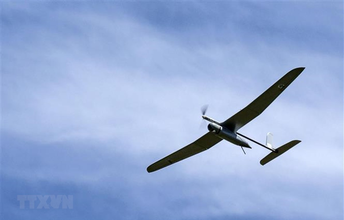 Máy bay không người lái của Israel có nhiệm vụ giám sát khu vực biên giới với Liban. (Nguồn: AFP/TTXVN)