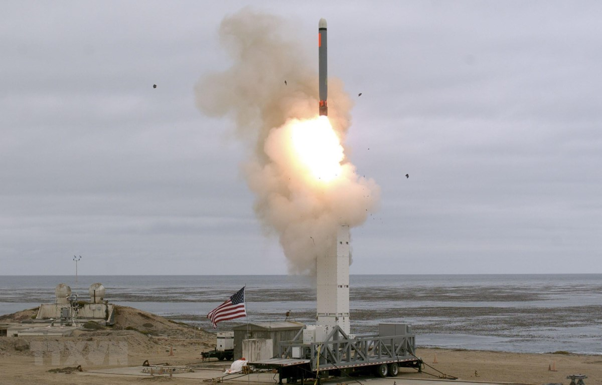 Một vụ thử tên lửa của Mỹ sau khi nước này rút khỏi Hiệp ước các lực lượng tên lửa tầm trung - INF. (Nguồn: AFP/TTXVN)