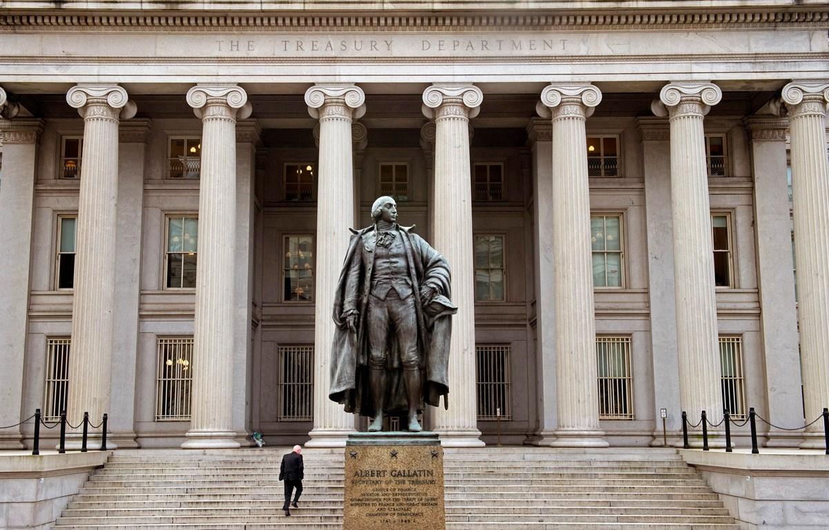 Trong ảnh: Trụ sở Bộ Tài chính Mỹ tại Washington, DC. Ảnh: AFP/ TTXVN