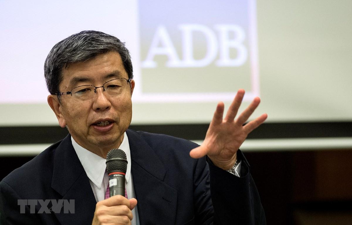 Trong ảnh: Chủ tịch Ngân hàng Phát triển châu Á (ADB), ông Takehiko Nakao. (Nguồn: AFP/TTXVN)