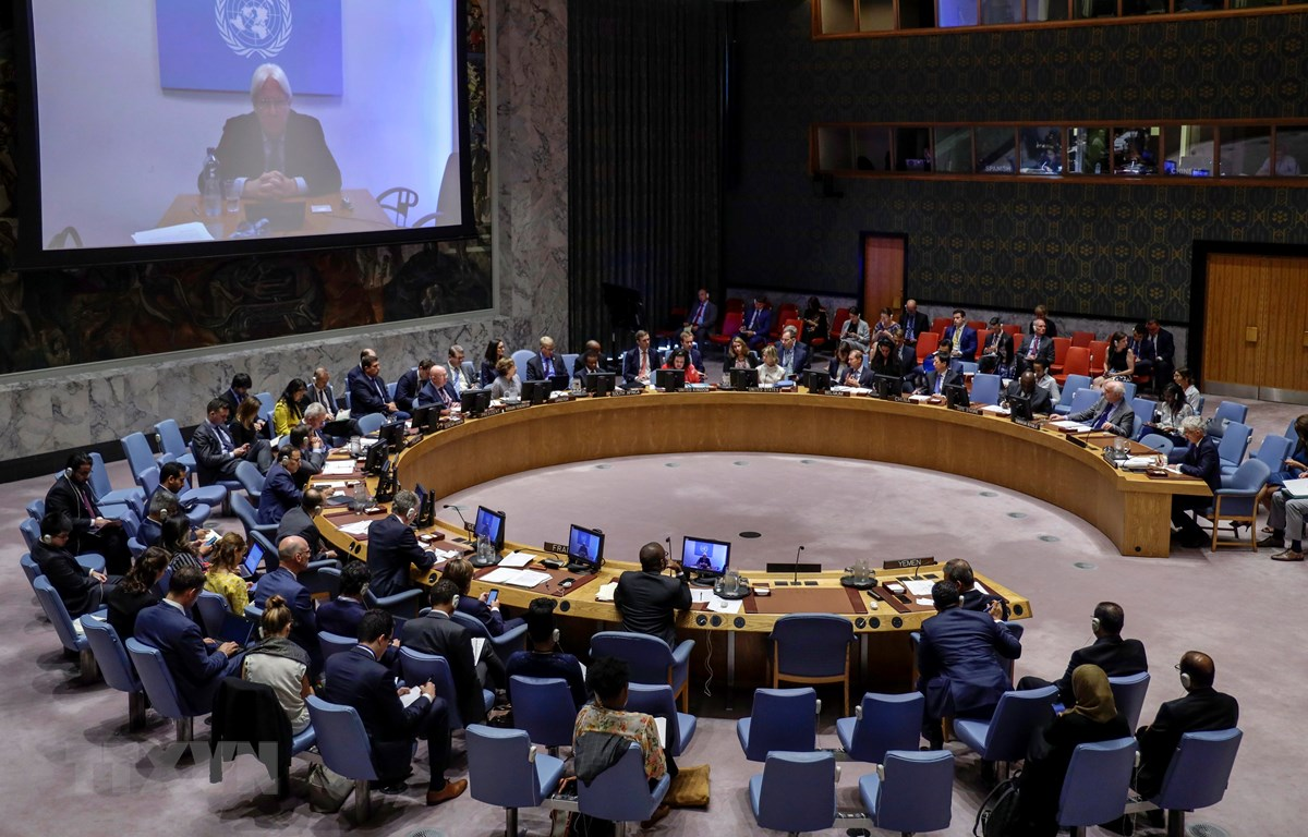 Một phiên họp của Hội đồng Bảo an Liên hợp quốc. (Nguồn: THX/TTXVN)