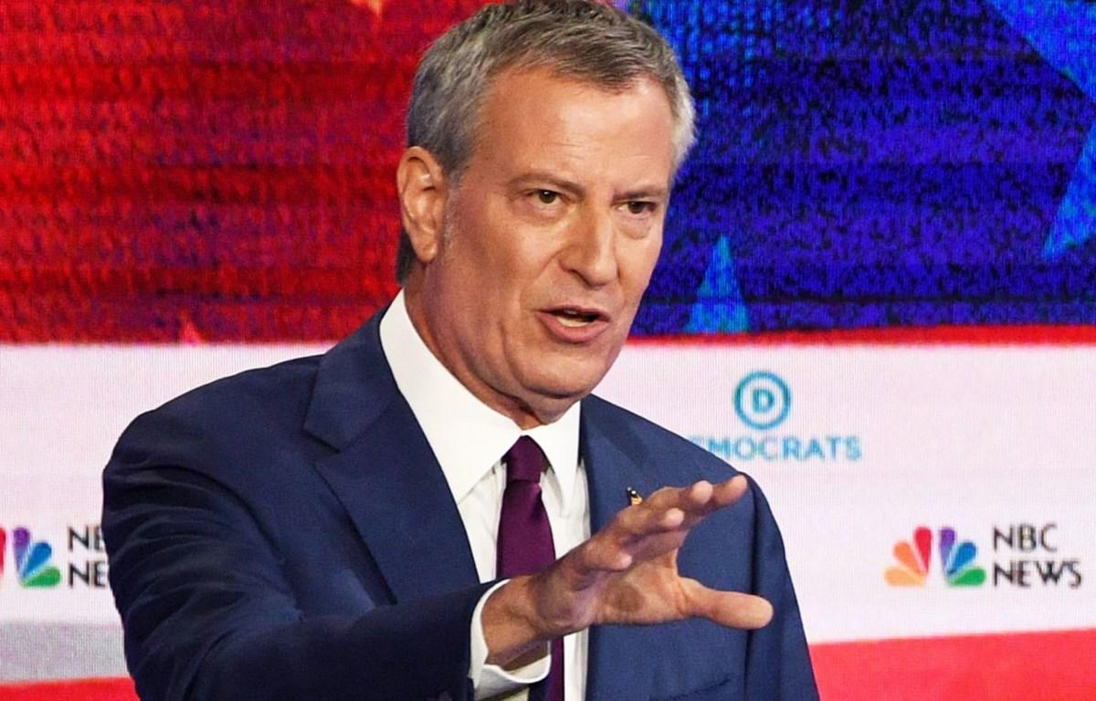 Thị trưởng thành phố New York, Mỹ, ông Bill de Blasio tuyên bố rút khỏi đường đua vào Nhà Trắng năm 2020. (Nguồn: NBC)