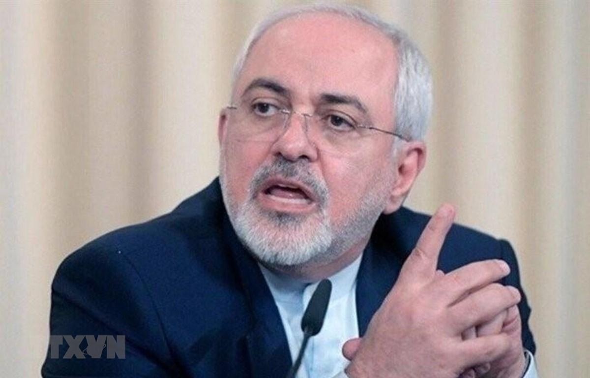 Trong ảnh: Ngoại trưởng Iran Mohammad Javad Zarif phát biểu tại Tehran. (Nguồn: IRNA/TTXVN)