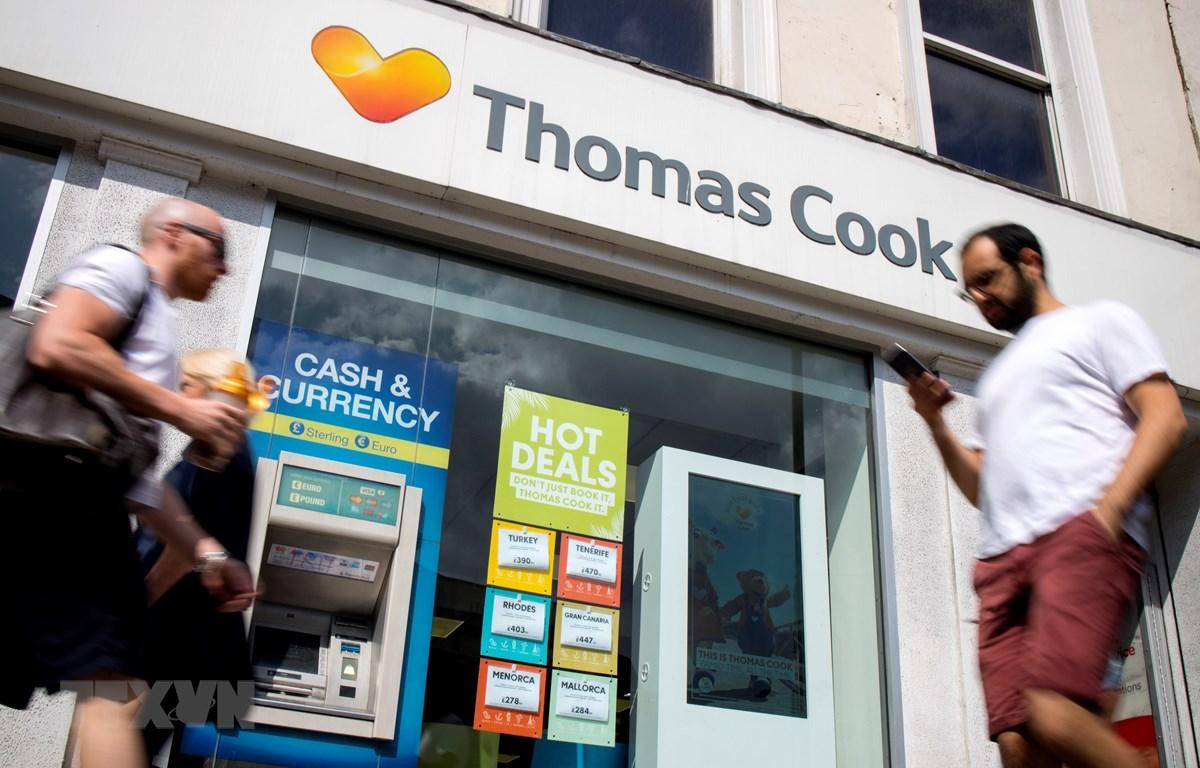 Trong ảnh: Một chi nhánh của công ty lữ hành Thomas Cook tại London, Anh, ngày 12/7/2019. (Nguồn: AFP/TTXVN)