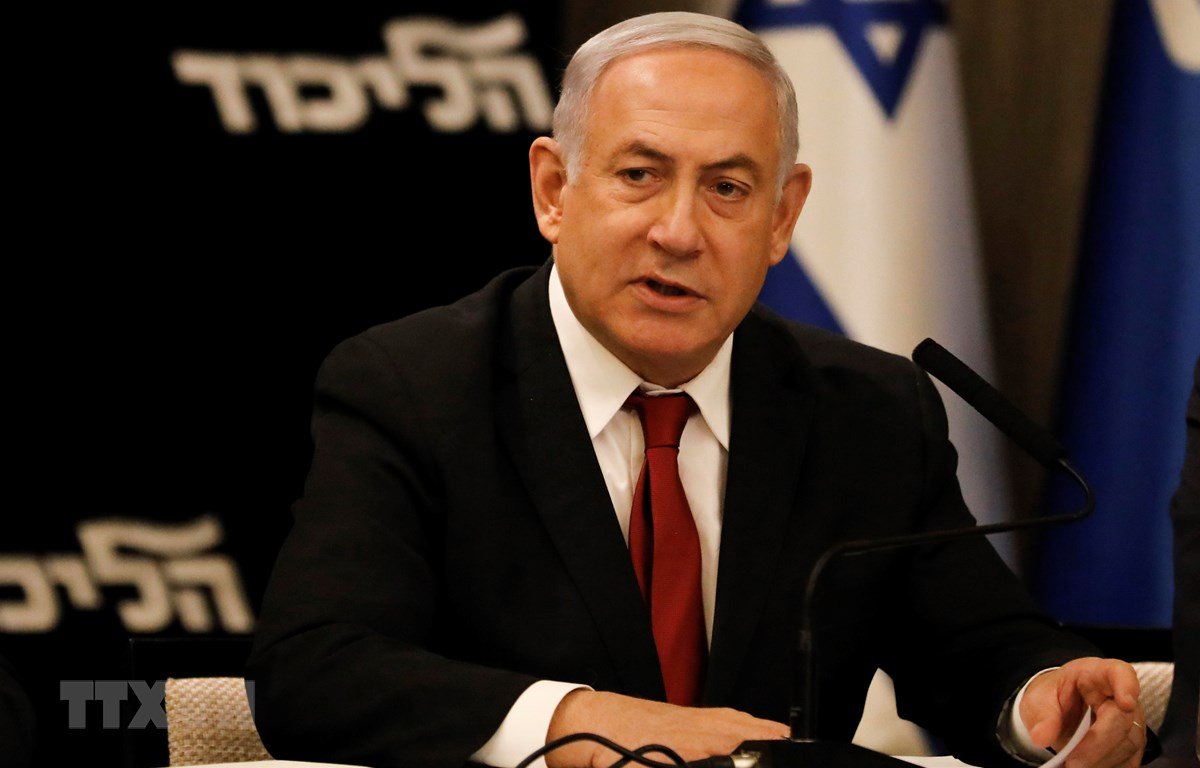 Trong ảnh: Thủ tướng Israel Benjamin Netanyahu phát biểu tại cuộc họp của đảng Likud ở Jerusalem ngày 18/9/2019. (Nguồn: AFP/TTXVN)