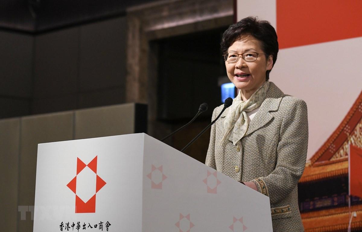 Trong ảnh: Trưởng Đặc khu hành chính Hong Kong Lâm Trịnh Nguyệt Nga. (Nguồn: THX/TTXVN)