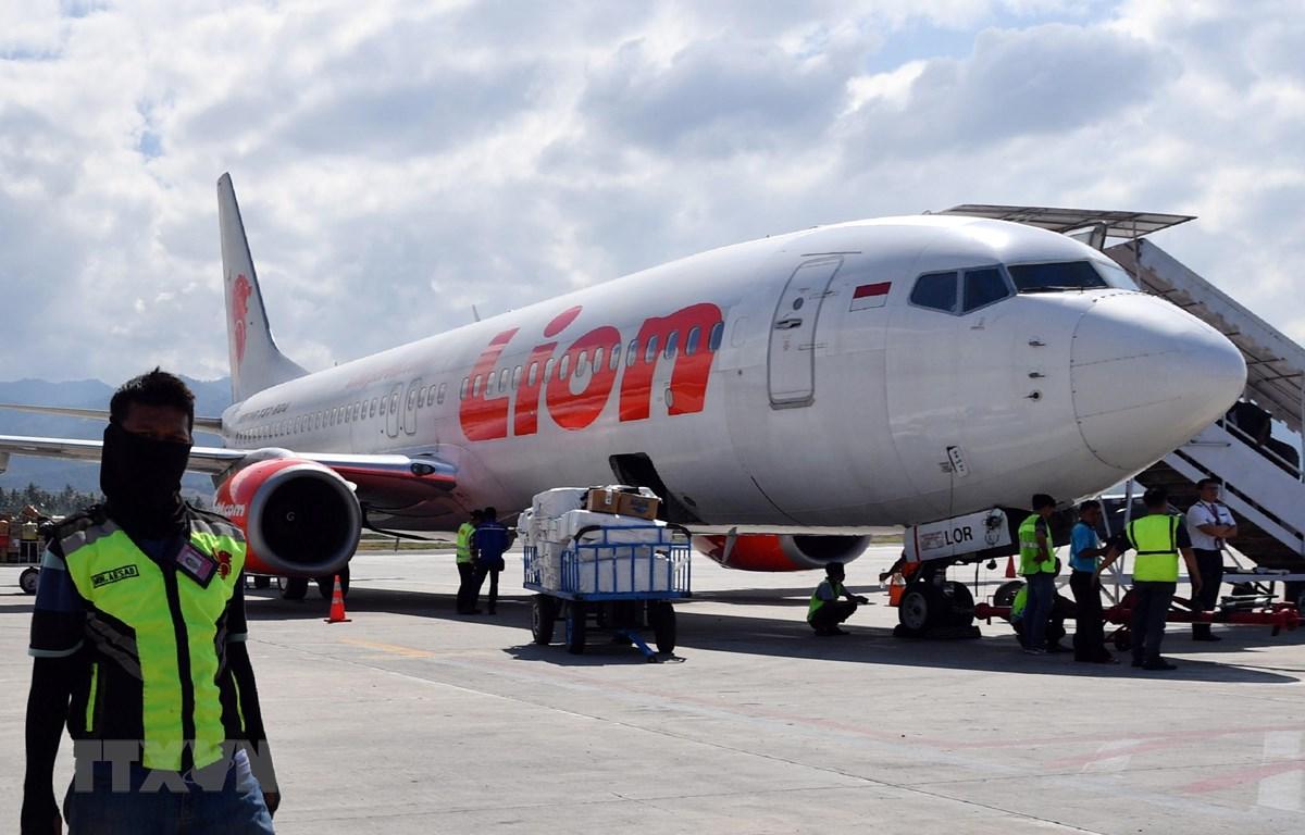 Trong ảnh (tư liệu): Máy bay Boeing 737-800 của hãng hàng không Lion Air tại sân bay Mutiara Sis Al Jufri ở Palu, Indonesia, ngày 10/10/2018. (Nguồn: AFP/TTXVN)