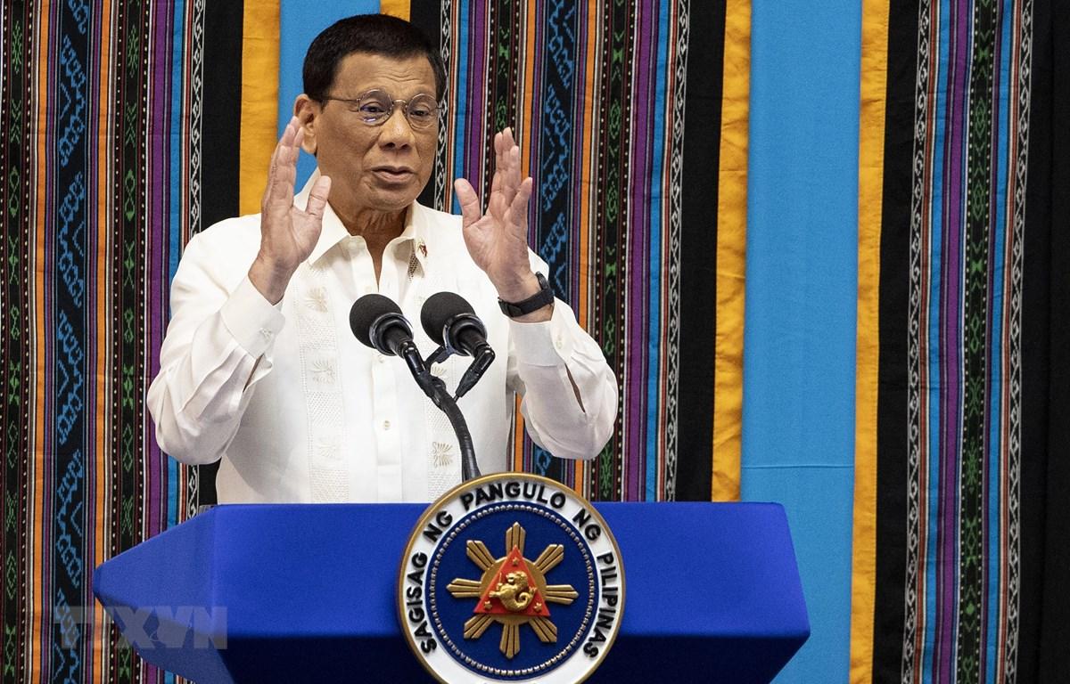 Tổng thống Philippines Rodrigo Duterte thăm Nga đẩy mạnh quan hệ song phương. (Nguồn: AFP/TTXVN)