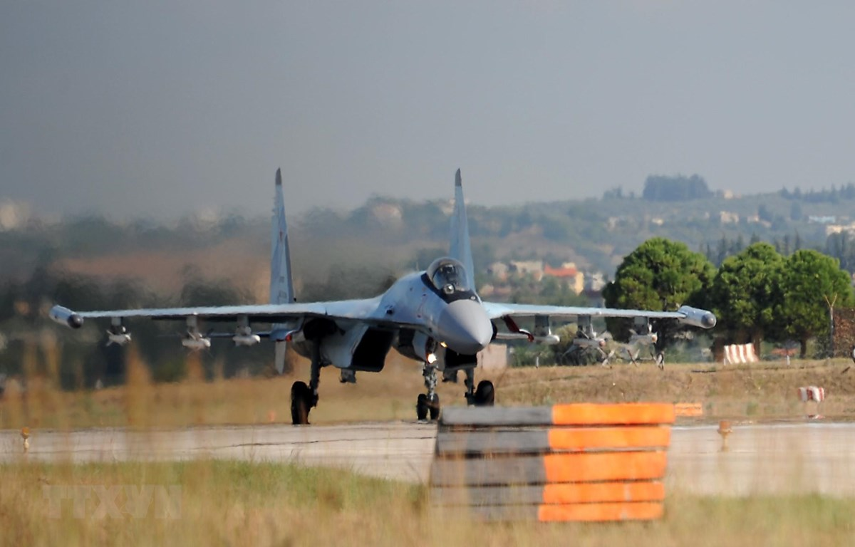 Trong ảnh: Máy bay quân sự của Nga tại căn cứ không quân Hmeimim ở tỉnh Latakia, Syria ngày 26/9/2019. (Nguồn: AFP/TTXVN)