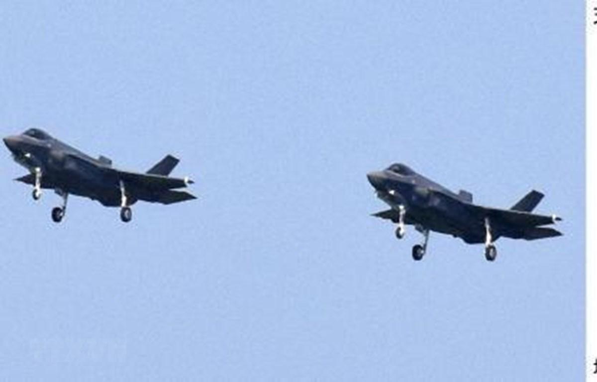 Trong ảnh: Máy bay tiêm kích F-35A thuộc Lực lượng Phòng vệ trên không Nhật Bản tại căn cứ ở Misawa, tỉnh miền Tây Aomori ngày 1/8/2019. (Nguồn: Kyodo/TTXVN)