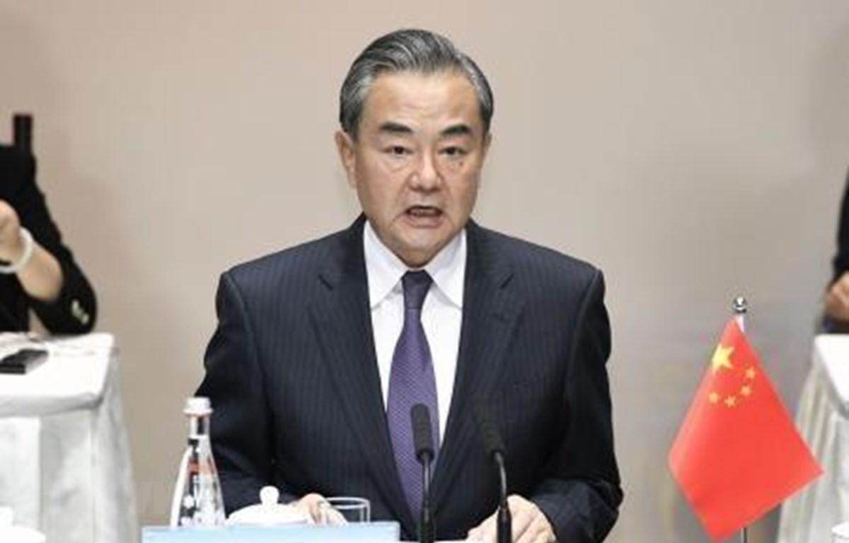 Bộ trưởng Ngoại giao Trung Quốc Vương Nghị. (Nguồn: Kyodo/TTXVN)