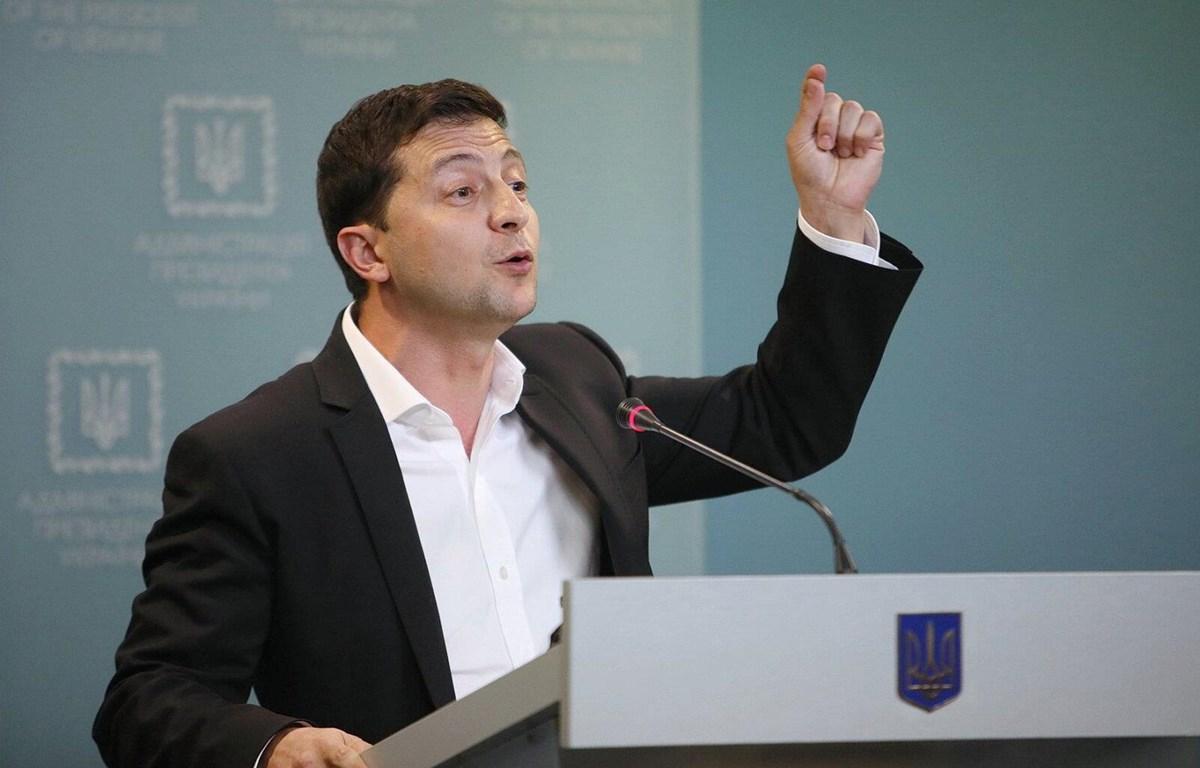 """Tổng thống Ukraine Volodymir Zelensky xác nhận việc nhất trí với """"Công thức Steinmeier."""" (Nguồn: kyivpost)"""