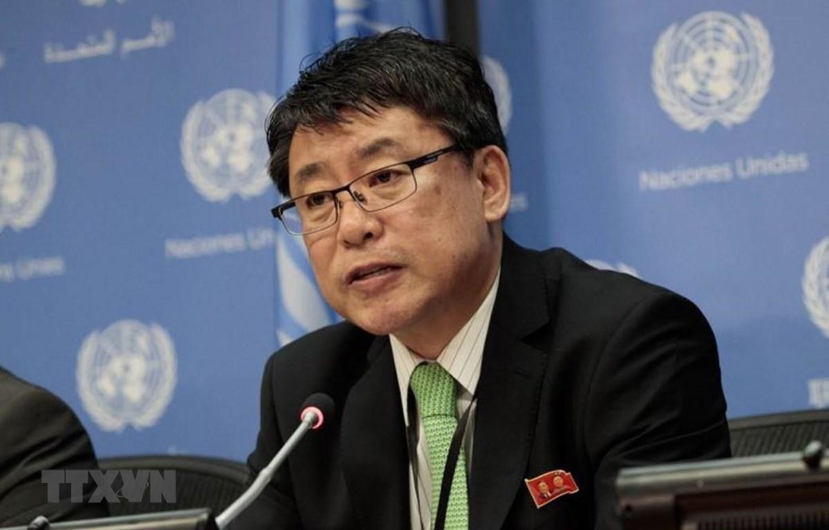 Phó trưởng đoàn đàm phán hạt nhân Triều Tiên Kwon Jong-gun. (Nguồn: Todayonline/TTXVN)