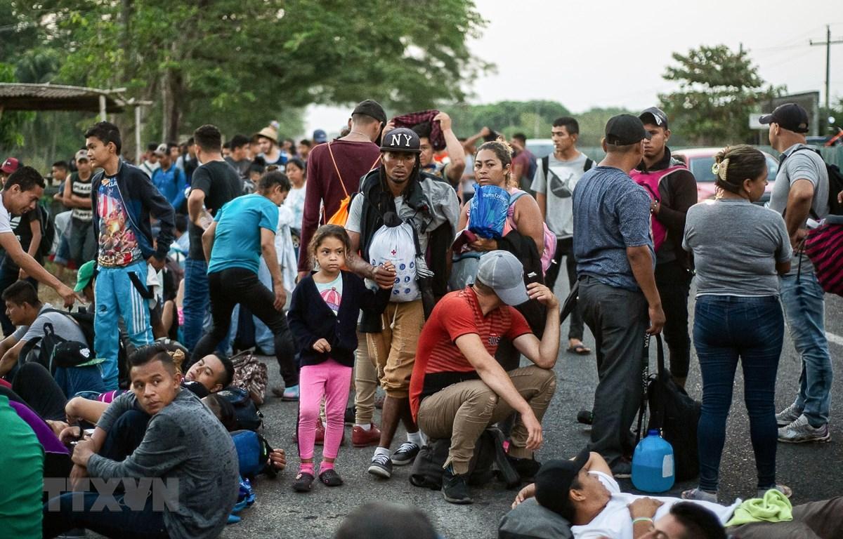 Người di cư Trung Mỹ trong hành trình tới Mỹ tại khu vực Huixtla, Tapachula, bang Chiapas, Mexico, ngày 15/4/2019. (Nguồn: AFP/TTXVN)