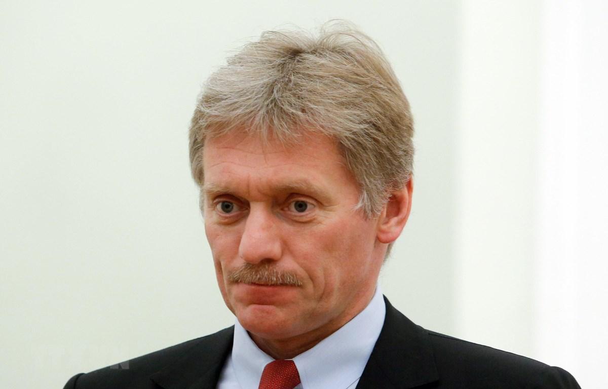 Người phát ngôn Điện Kremlin Dmitry Peskov trong cuộc họp tại Moskva. (Nguồn: AFP/ TTXVN)