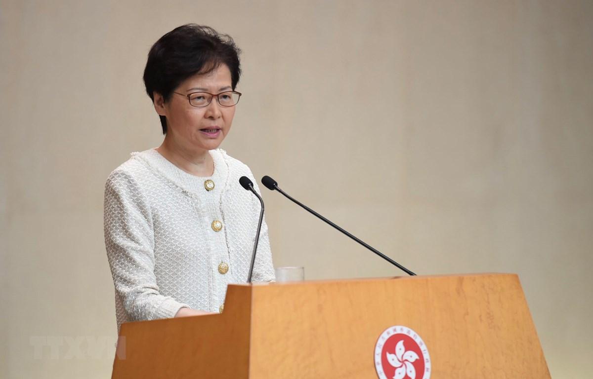 Trưởng Đặc khu Hong Kong Lâm Trịnh Nguyệt Nga. (Nguồn: THX/TTXVN)