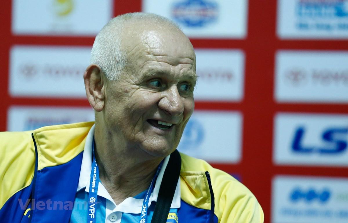 Huấn luyện viên Ljupko Petrovic trở lại dẫn dắt Thanh Hóa ở V-League 2021. (Ảnh: Minh Chiến/Vietnam+)