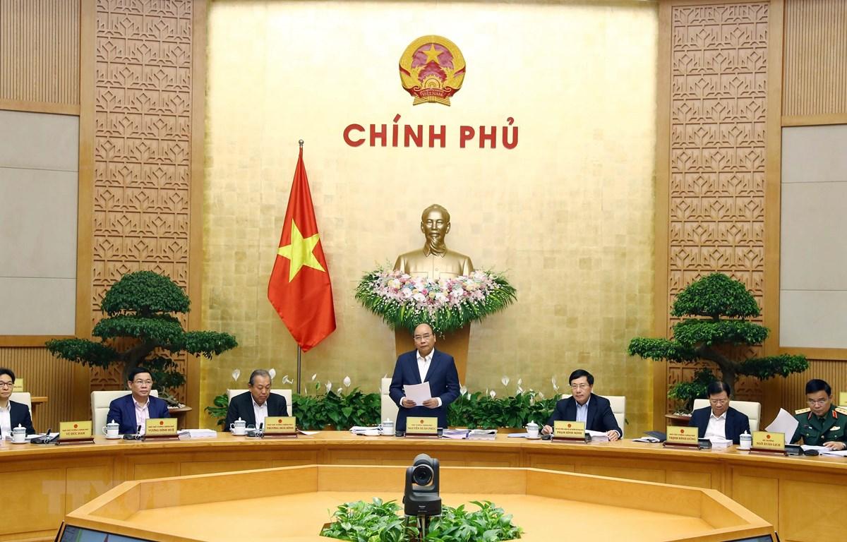 Thủ tướng Nguyễn Xuân Phúc phát biểu khai mạc phiên họp. (Ảnh: Thống Nhất/TTXVN)