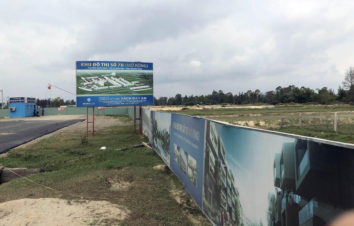 Dự án khu đô thị 7B mở rông của Công ty Bách Đạt An bị chính quyền Quảng Nam tạm dừng. (Ảnh: Trần Tĩnh/TTXVN)