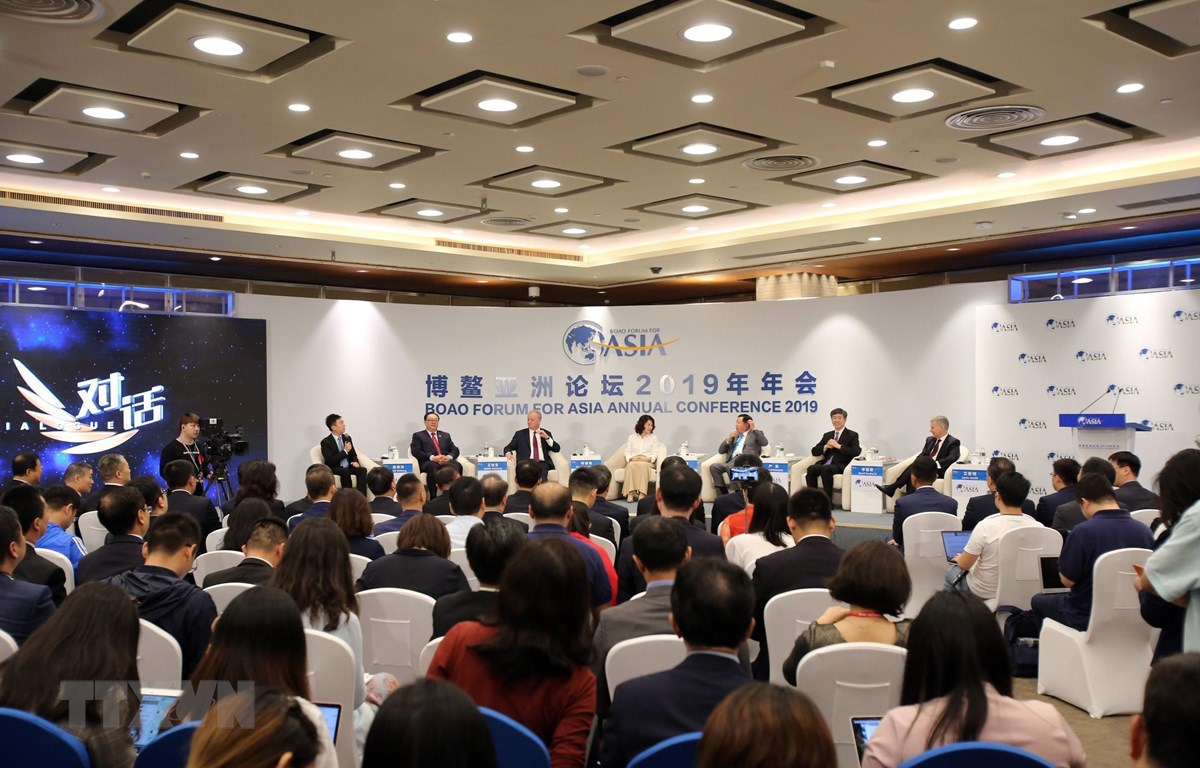 Toàn cảnh một phiên thảo luận của Hội nghị thường niên của Diễn đàn châu Á Bác Ngao 2019 tại Hải Nam, Trung Quốc, ngày 27/3/2019. (Ảnh: THX/ TTXVN)