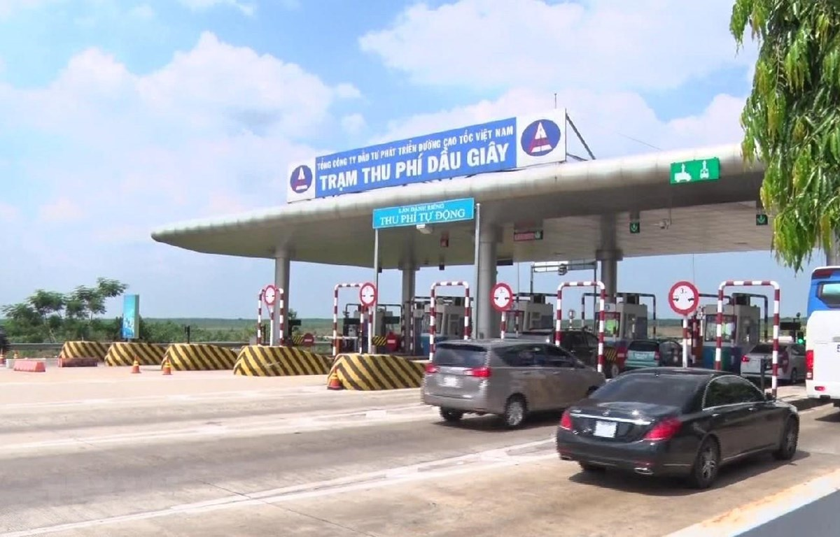 Trạm thu phí cao tốc Long Thành-Dầu Giây, nơi xảy ra vụ cướp. (Ảnh: Sỹ Tuyên/TTXVN)