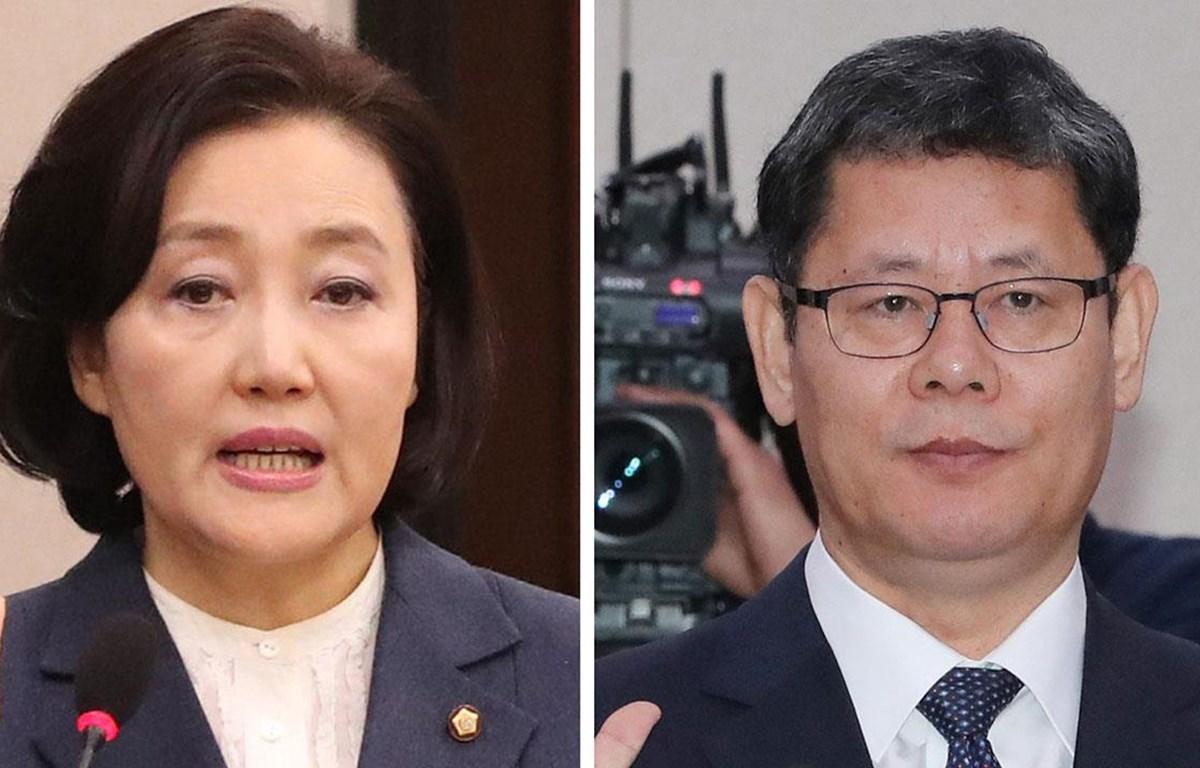 Bà Park Young-sun và ông Kim Yeon-chul. (Nguồn: tellerreport.com)