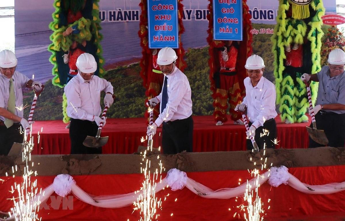 Lễ khởi công Khu điều hành Nhà máy điện gió Đông Hải 1. (Ảnh: Huỳnh Sử/TTXVN)