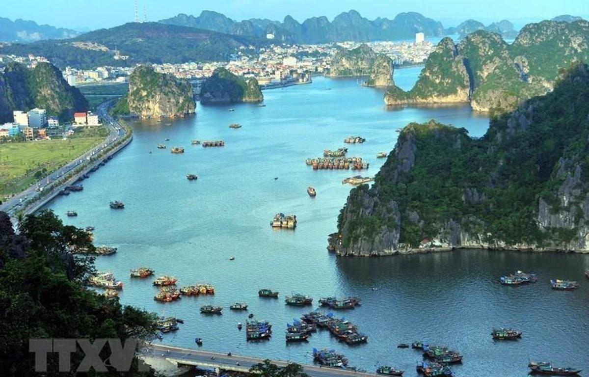 Vịnh Hạ Long nằm ở phía Tây vịnh Bắc Bộ, bao gồm vùng biển đảo thuộc các thành phố Hạ Long, Cẩm Phả và một phần huyện đảo Vân Đồn của tỉnh Quảng Ninh. (Ảnh: Minh Đức/TTXVN)