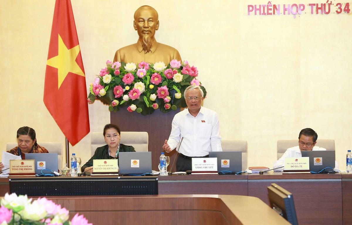Phó Chủ tịch Quốc hội Uông Chu Lưu phát biểu. (Ảnh: Doãn Tấn/TTXVN)