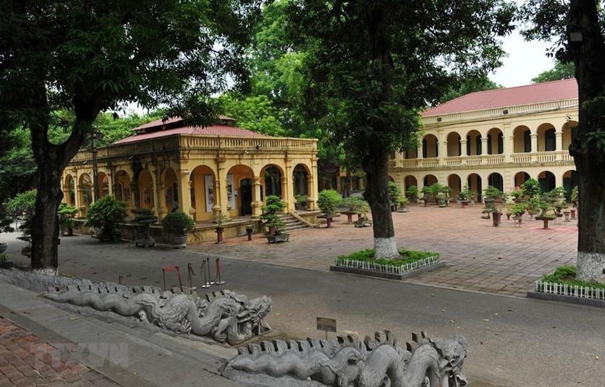 Một góc Khu di sản Trung tâm Hoàng thành Thăng Long. (Ảnh: Minh Đức/TTXVN)