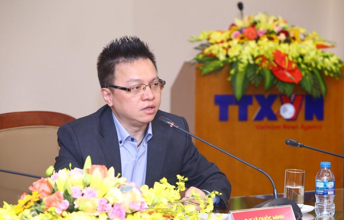 Phó Tổng giám đốc Thông tấn xã Việt Nam Lê Quốc Minh, Phó Trưởng Ban Chỉ đạo Giải thưởng toàn quốc về thông tin đối ngoại. (Ảnh: Minh Quyết/TTXVN)