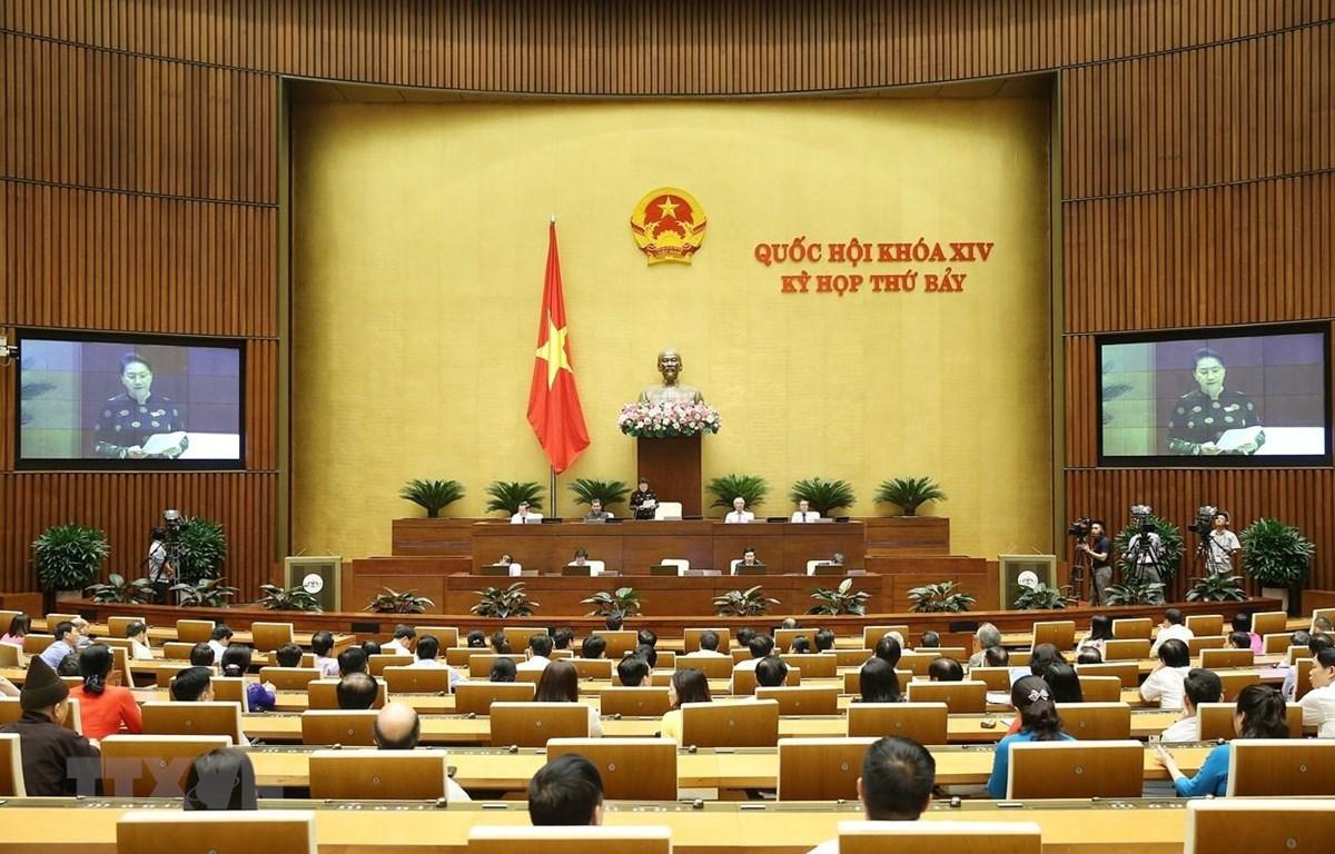 Chủ tịch Quốc hội Nguyễn Thị Kim Ngân phát biểu kết thúc phiên chất vấn và trả lời chất vấn. (Ảnh: Dương Giang - TTXVN)