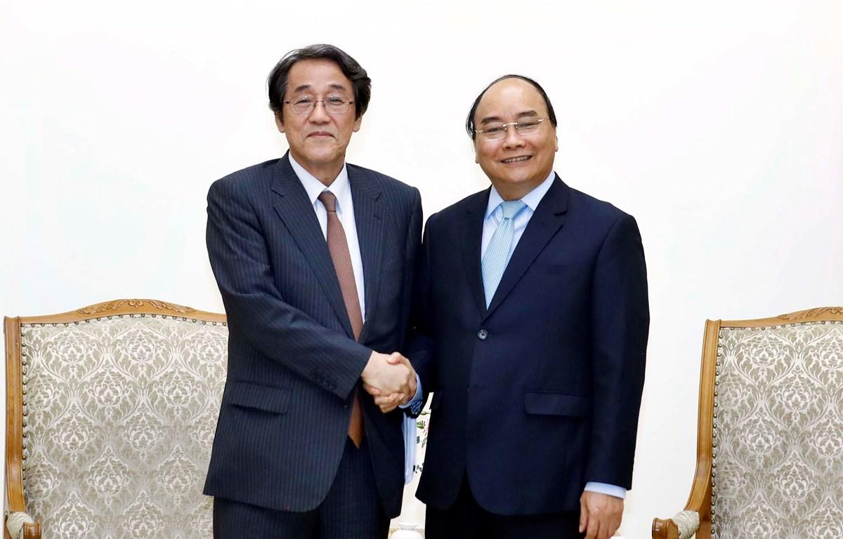 Thủ tướng Nguyễn Xuân Phúc tiếp Đại sứ Nhật Bản Kunio Umeda. (Ảnh: Thống Nhất/TTXVN)